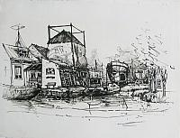 Delft, ink drawings (62 * 48 cm or larger)