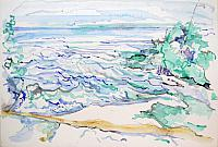 The Sea: Watercolours (50cm * 65cm) (some pen and ink)